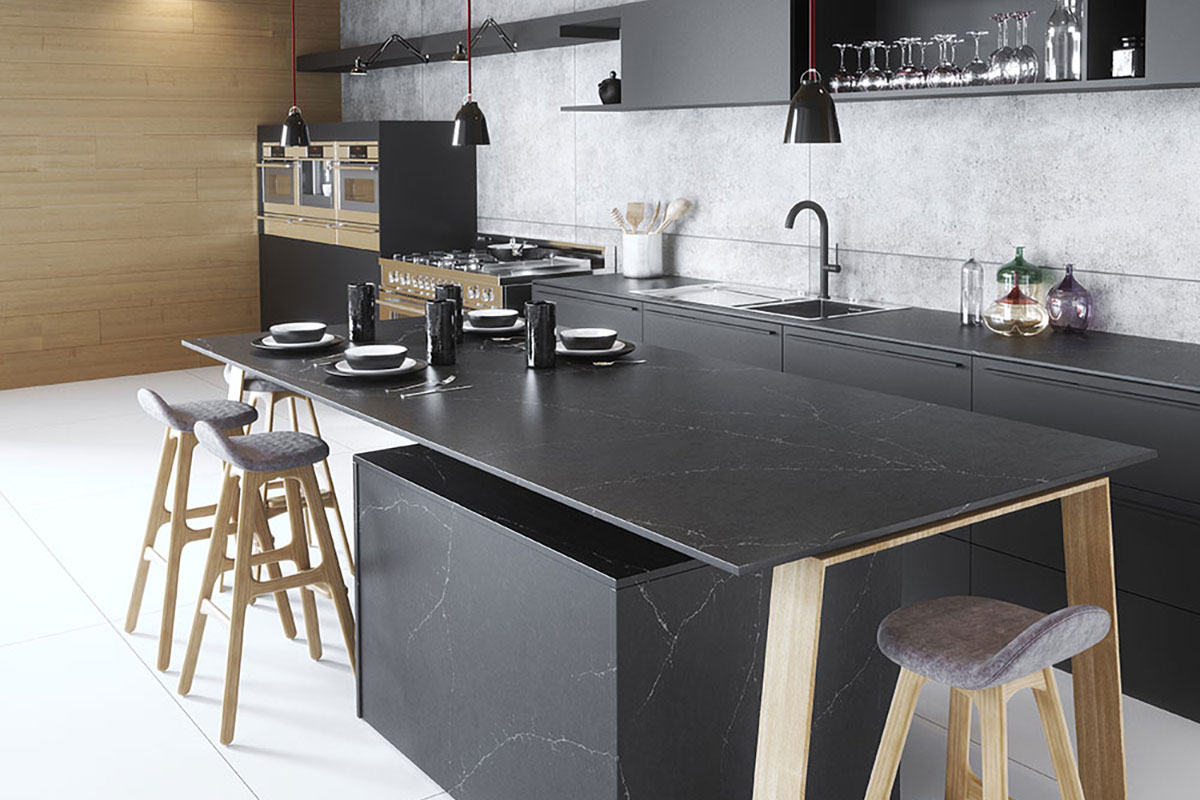 Silestone-Kitchen-Europea-Eternal-Charcoal-Soapstone