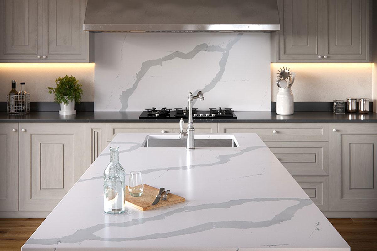 Silestone Bianco-Calacatta Silestone Kitchen