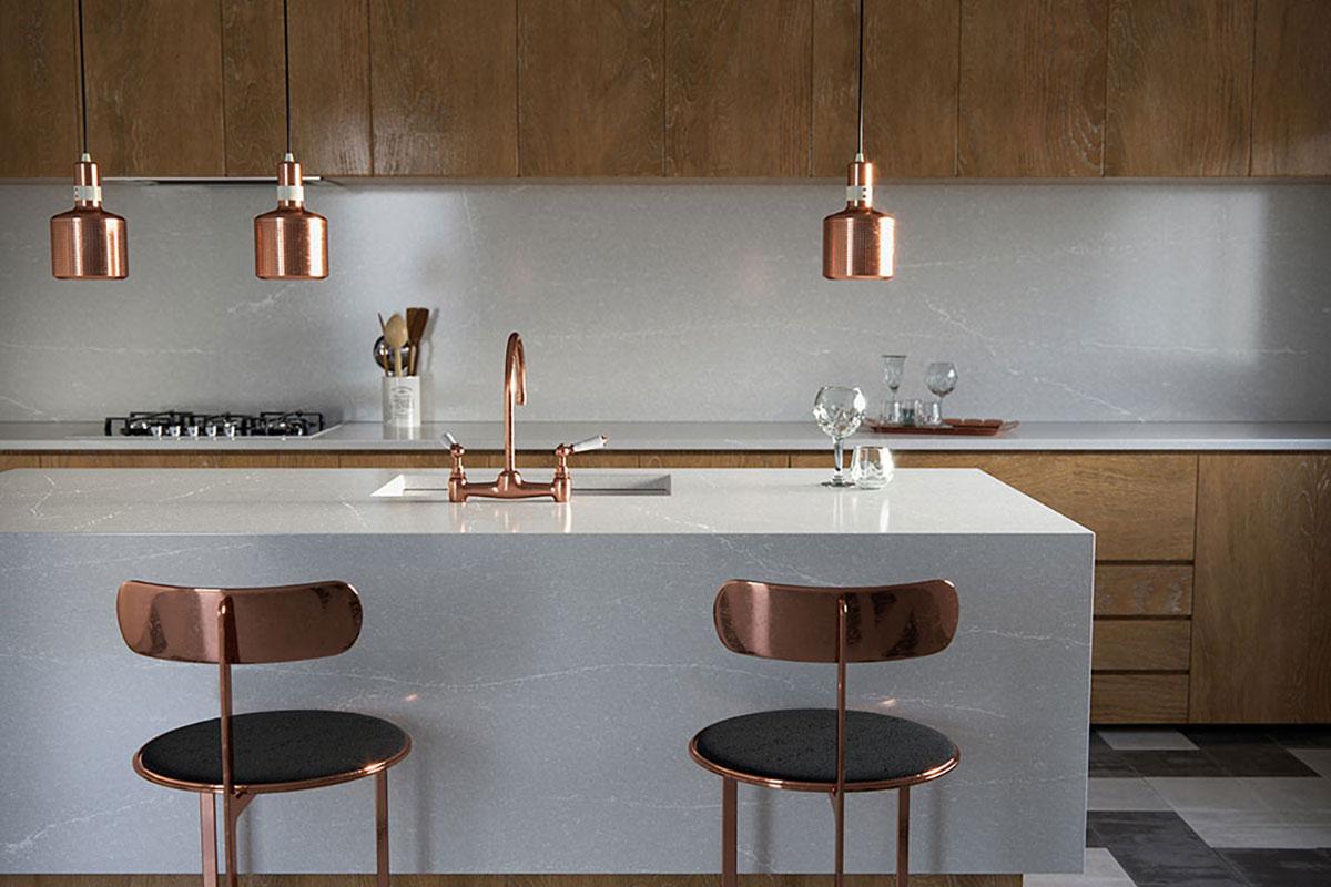 Silestone-Kitchen Desert-Silver