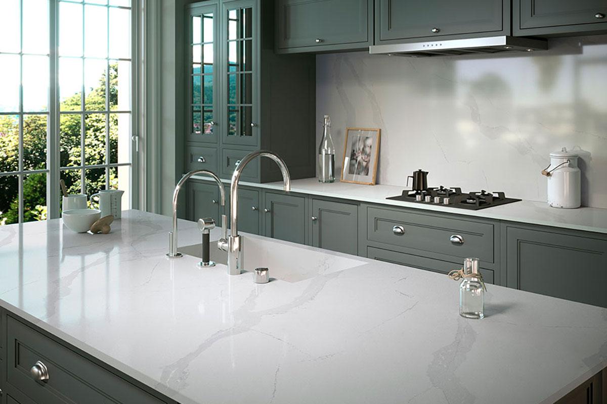 Silestone Classic Calacatta Kitchen