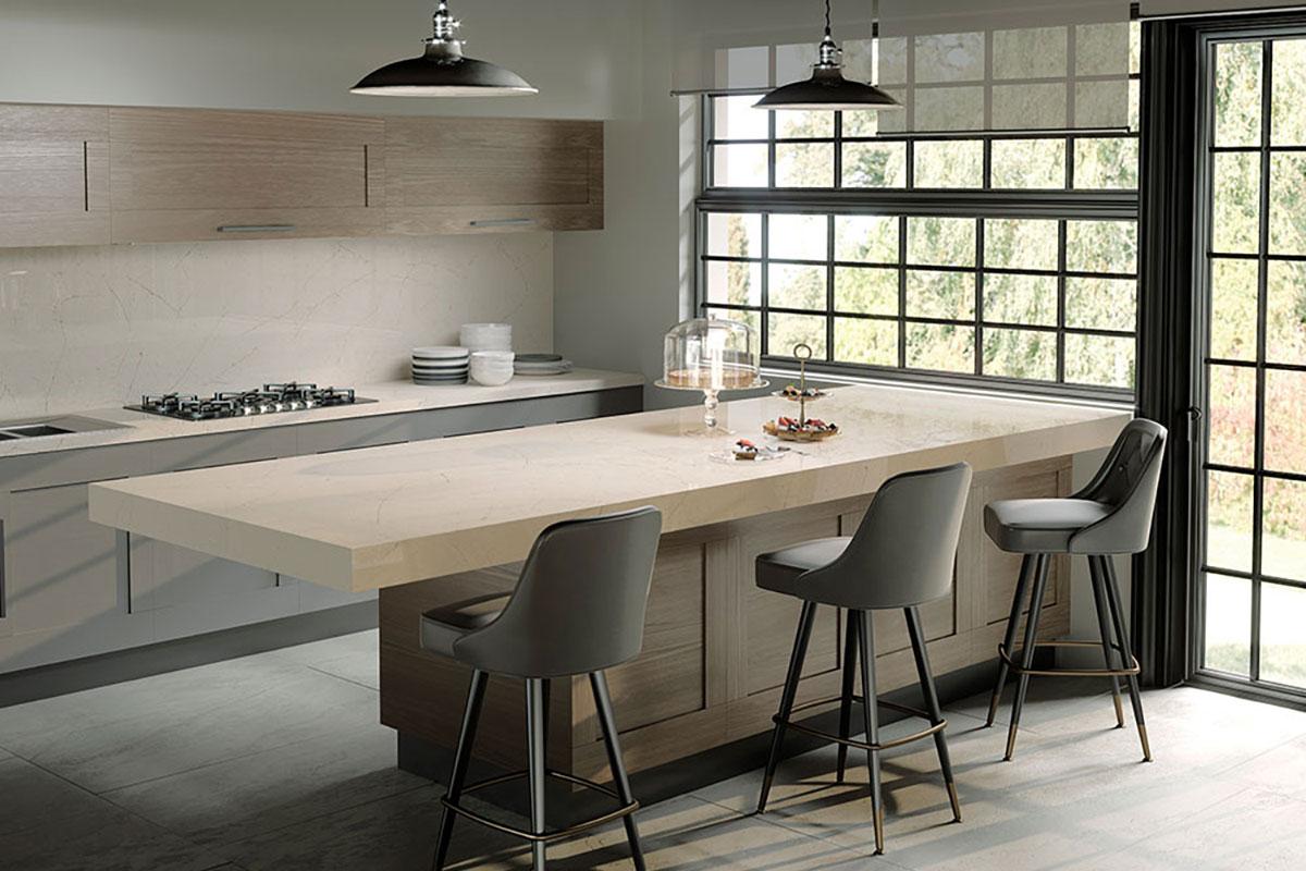 Silestone Eternal Marfil Kitchen