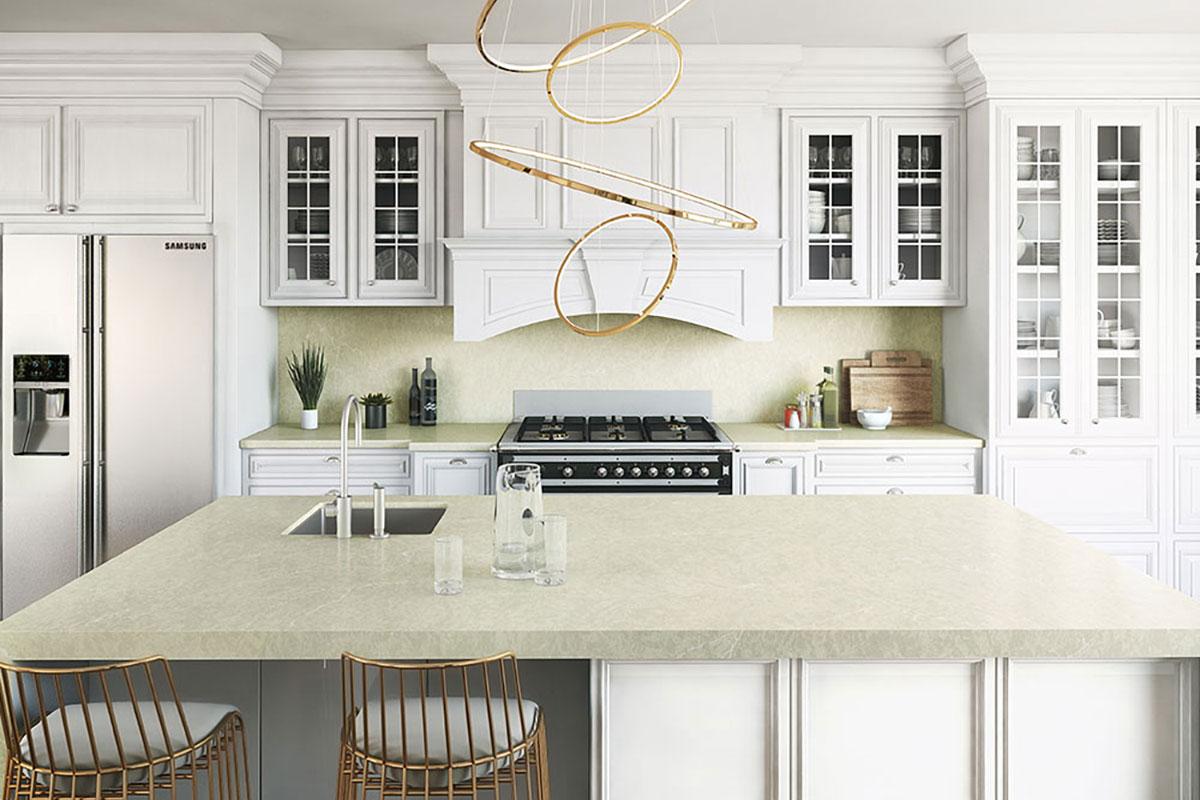 Silestone Silken Pearl Kitchen